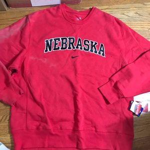 Nike Nebraska red pullover NWT XL jacket D96
